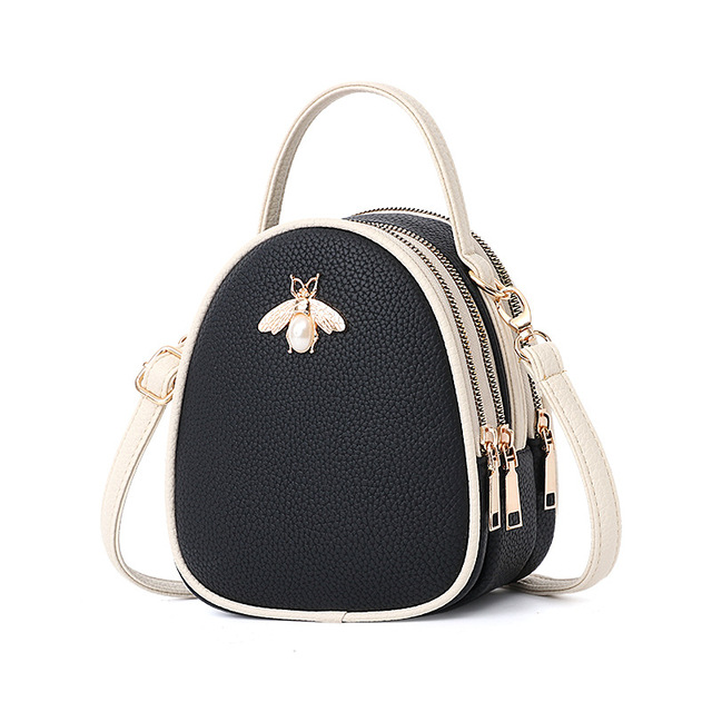 Luxury Handbags Women Bags Designer Ladies' Pu Leather Shoulder Bag for Women 2018 Fashion Bee Decoration Famous Brands Tote