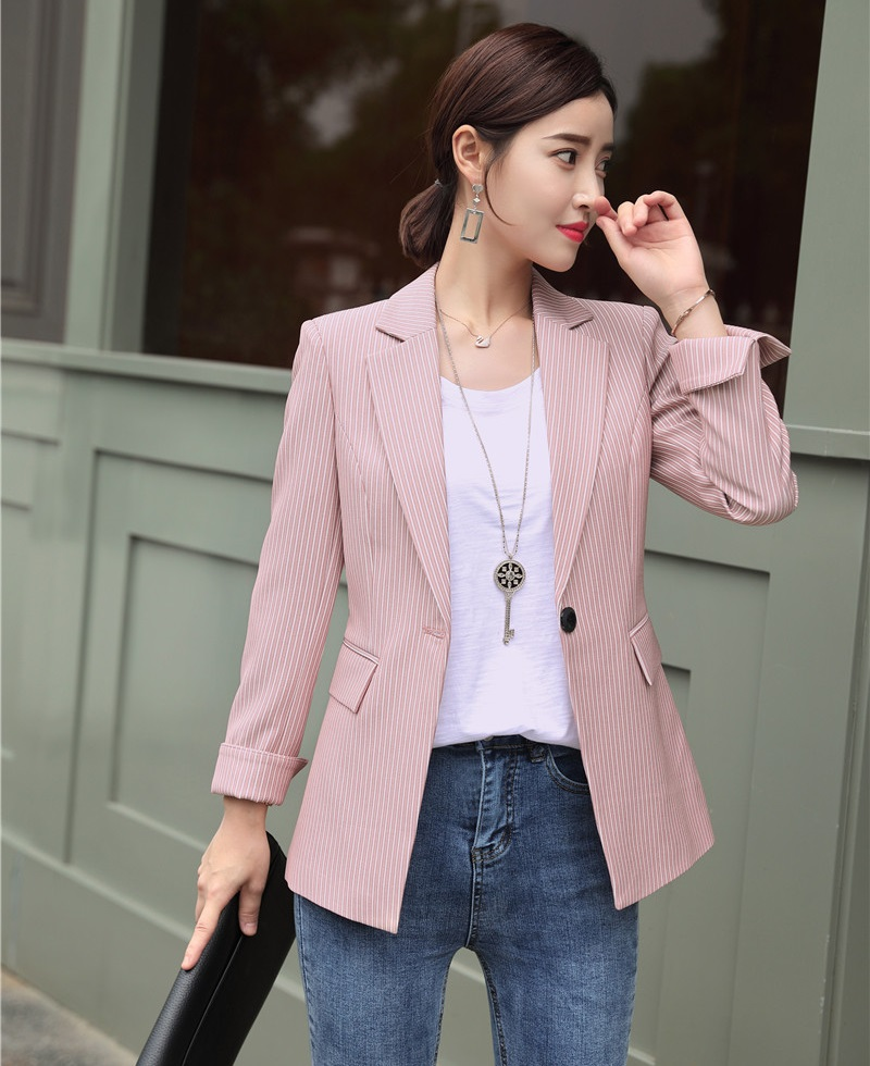 Fashion Casual Pink Vertical Striped