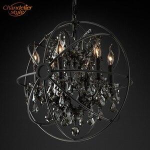 Image 3 - Feucault lustre suspendu en cristal, forme Orb, design rustique, éclairage dintérieur, luminaire dintérieur, luminaire dintérieur, idéal pour un hôtel, modèle pendentif LED