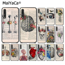 MaiYaCa Human anatomy organ newspaper TPU Soft Phone Case for Huawei P10 plus 20 pro P20 lite mate9 10 lite honor 10 view10(China)
