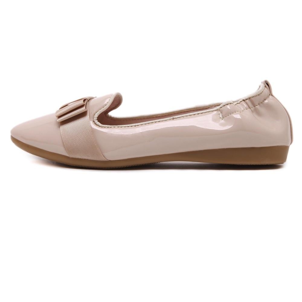 Conducción Casual Pu Pisos Zapatos Bowtie Nuevo Mocasines 2016 Más Mujeres Estrecha Punta Af1H8gqw