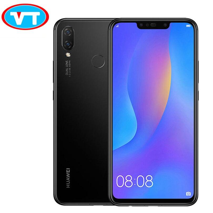 Huawe nova 3i 6 г 64 г nova 3i 6,3 дюймов 4 мобильный телефон с камерами Kirin 710 Octa Core Android 8,1 3340 мАч смартфон с идентификацией отпечатков пальцев