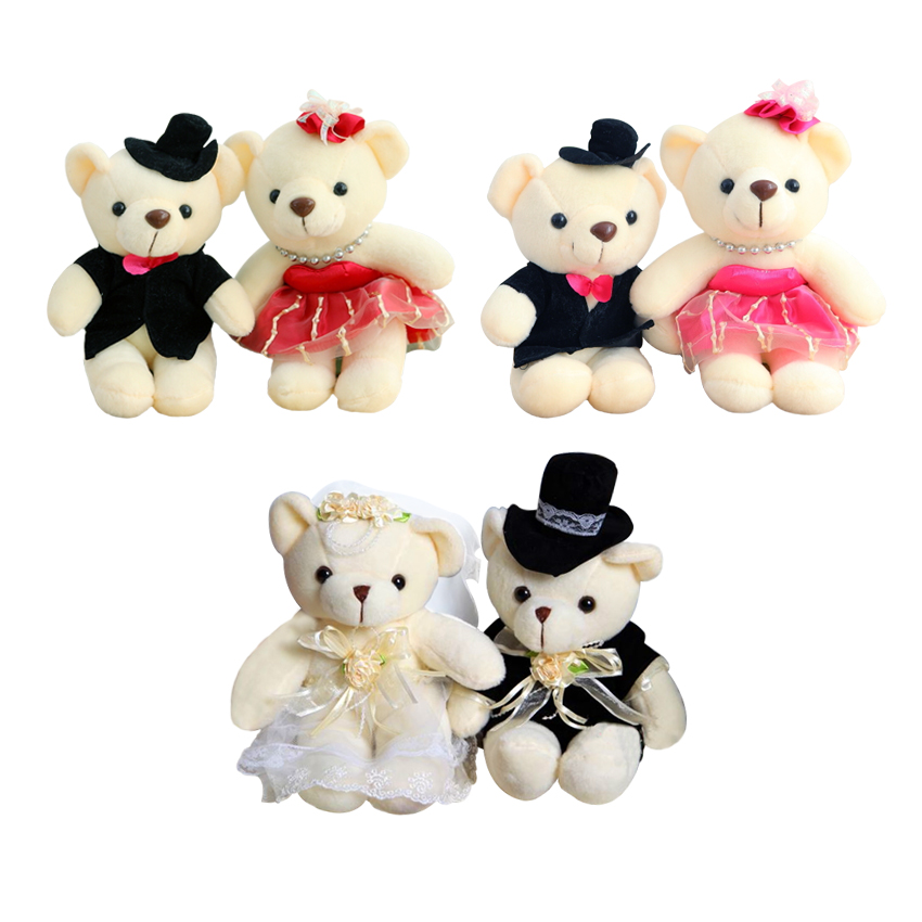 couple bear wedding teddy bear plush toys wholesale Christmas gift ...