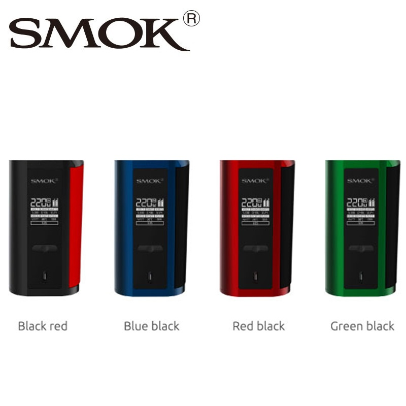 Caliente Original humo GX2/4 TC caja MOD powred por batería 18650 max 220 W/350 W electrónicos cigarrillo Vape mod del humo alienígena/t-priv