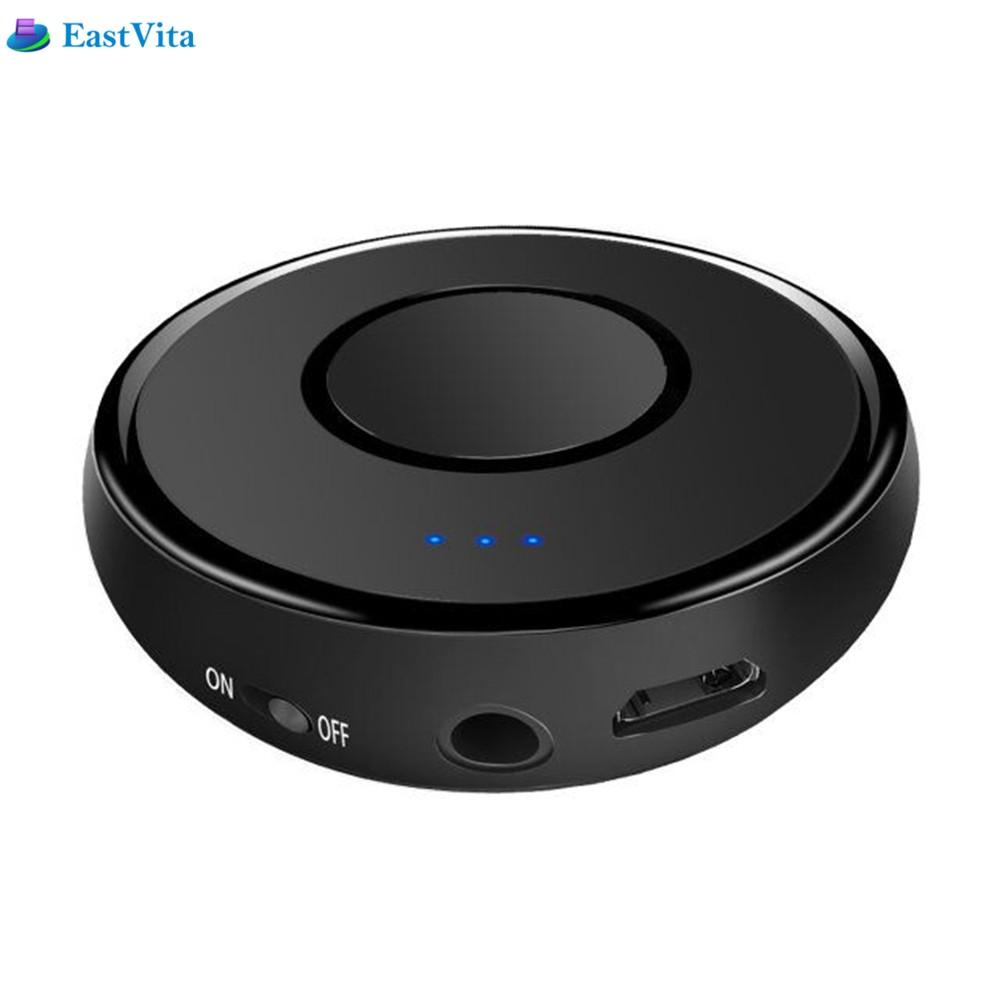 EastVita Wireless Bluetooth Receiver 3.5mm Stereo Home Music Audio Receiver mini Adapter Mic for Car System Speaker TV Headphone new portable hifi audio stereo wireless bluetooth headphone with mic speaker for sports music