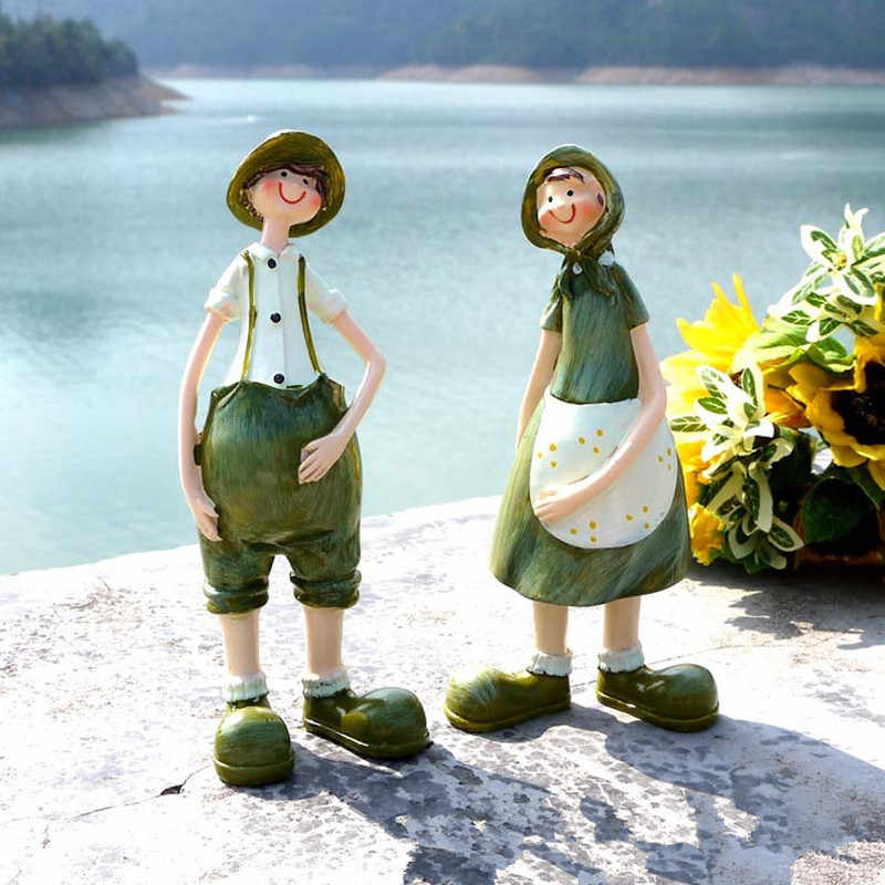 Romantic Couples Figurines Fairy Creative Gifts Beautiful Resin Ornaments  Living Room Home Decoration ElimElim