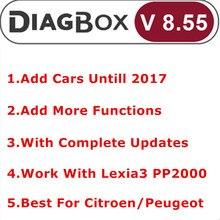 Новинка Diagbox V8.55+ V7.83 полное обновление для Lexia3 PP2000 Lexia-3 Diagbox 8,55 добавить автомобиль Untill диагностический для Citroen/Peogeot