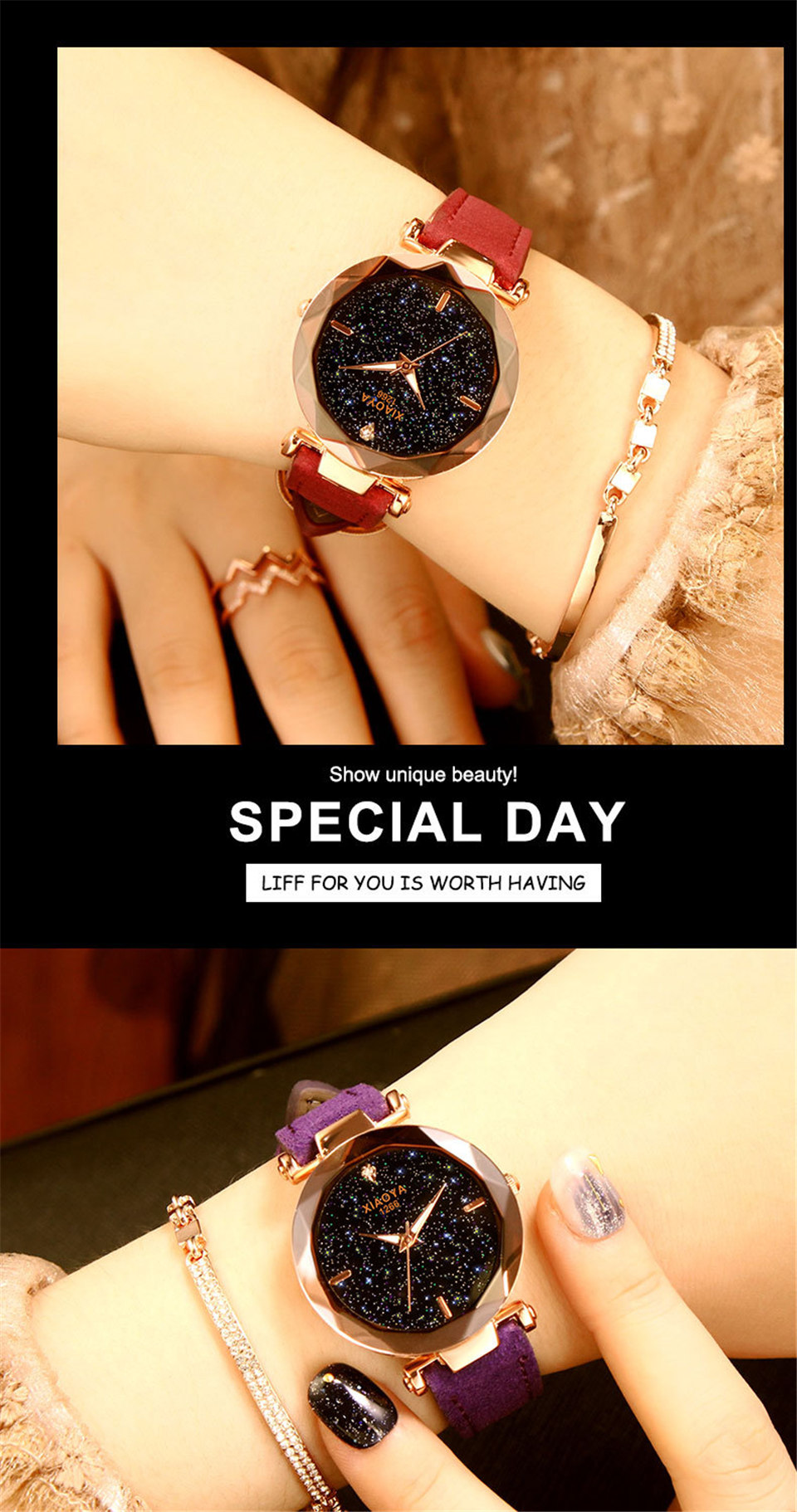 2018 Starry Sky Watch Women Minimalist Top Brand Luxury Wrist Watch For Ladies Female Clock Damski Montre Femme (18)
