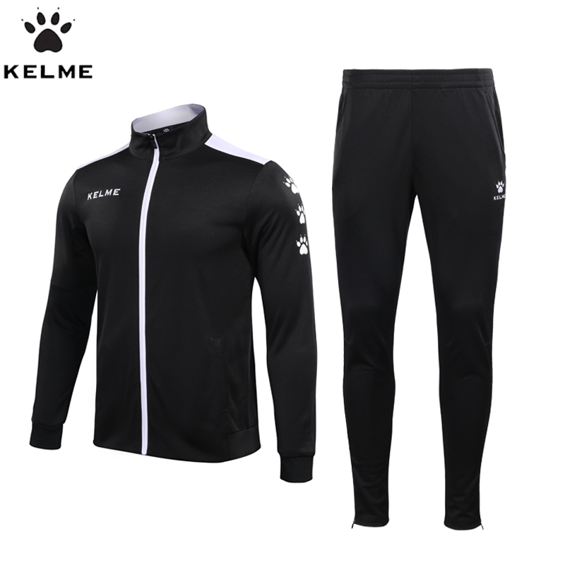 KELME Sport Suit Men s Sportswear Long Sleeve Basketball Soccer Jogging Rugby Men s Running clothes
