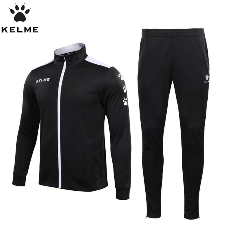 KELME Sport Suit Men s Sportswear Long Sleeve Basketball Soccer Jogging Rugby Men s Running clothes