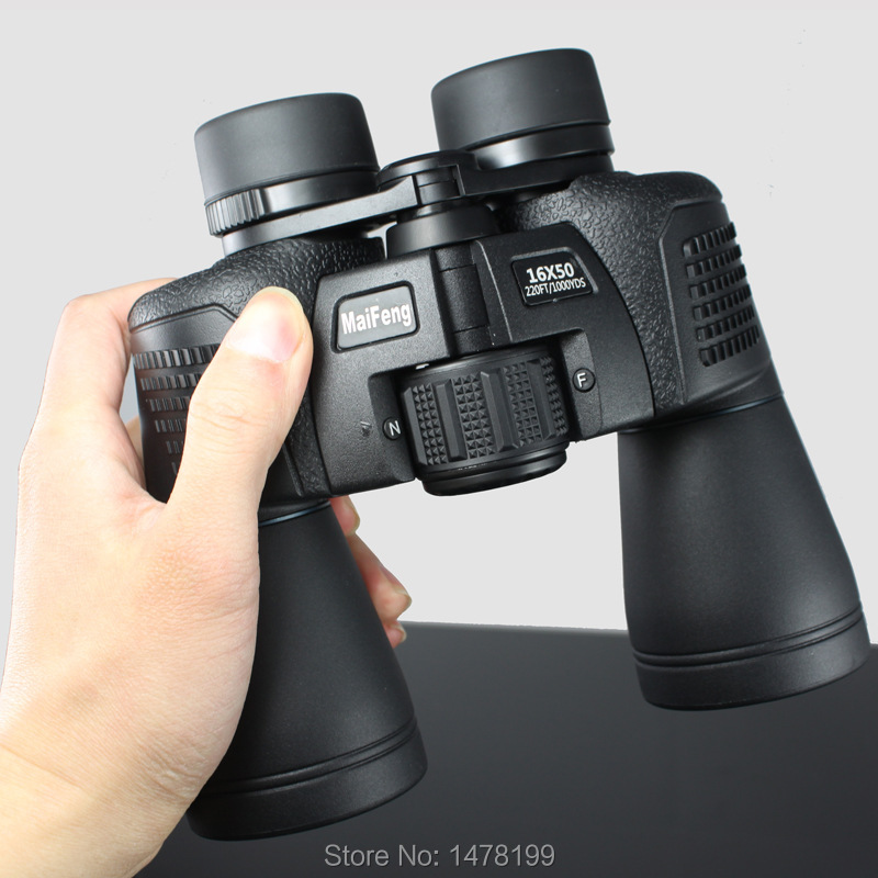 Maifeng <font><b>Binoculars</b></font> <font><b>16X50</b></font> High Power Field-glasses Telescope Film Bak4 Tourism Optical Outdoor Eyepiece New Waterproof Green 50mm image