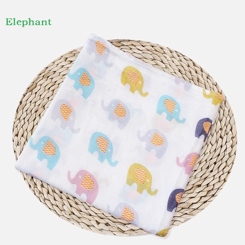 Muslin Baby Blanket Cartoon Pattern Swaddle Cotton Bamboo Super Soft Baby Warp For Newborn Lovely Blanket Bath Towel Bed Sheet