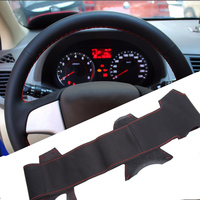 Sew On Genuine Leather Car Steering Wheel Cover Car Accessories For Hyundai Solaris I20 2009 2013