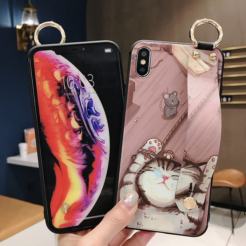 Girls Fashion Case with Wrist Strap for iPhone 11/11 Pro/11 Pro Max 9