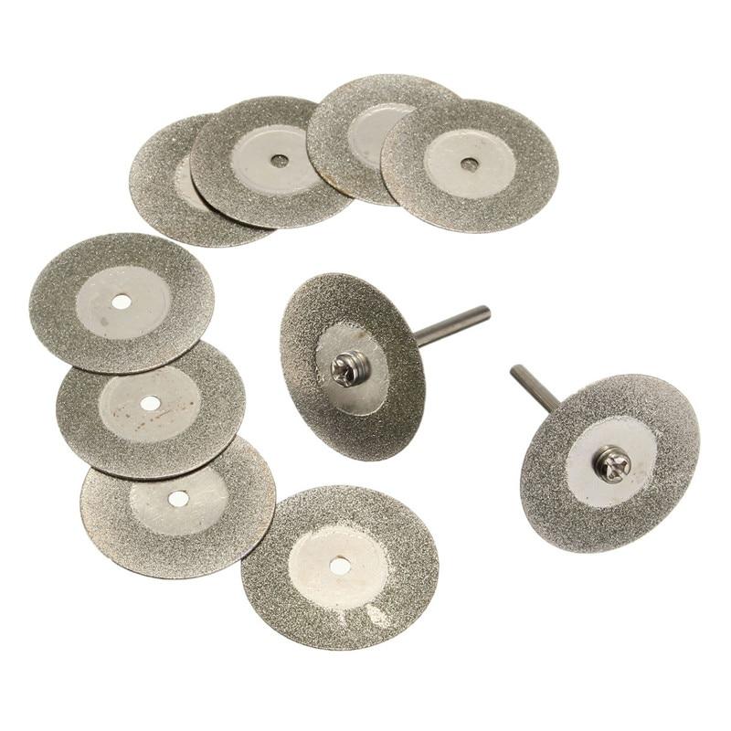 10vnt. / Rinkinys 30mm sidabro pjovimo disko su mažais deimantiniais - Ašmenys pjūklams - Nuotrauka 5