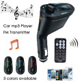 Música Car MP3 Player Transmissor FM Sem Fio Adaptador de carregador de Carro de Rádio jogador USB SD car Kit MP3 Player Transmissor FM u disco