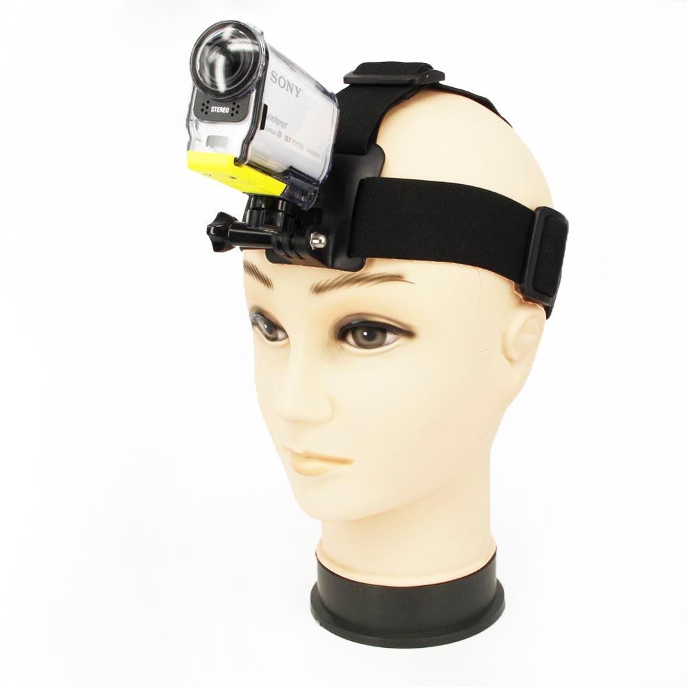 3ni 1 sada Řemíková ohebná ohebná páska + montážní adaptér + dlouhý šroubový šroub pro akční kameru Sony HDR-AS30V / AS100V / AS200V