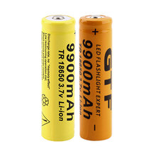 2pcs 9900mAh 18650 3.7V Rechargeable Battery Li-ion Lithium Bateria for Led flashlight Torch Cell Battery Drop shipping все цены