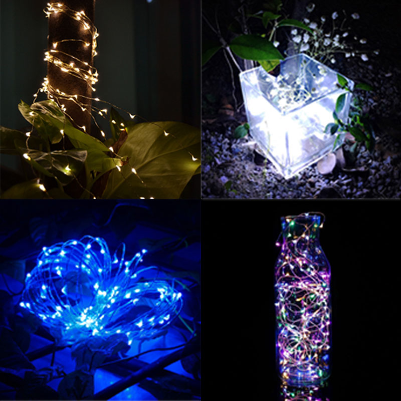 5M 50 LED Wire Copper Fairy String Lights For Christmas Xmas Wedding Party Garden Outdoor Decorations ALI88