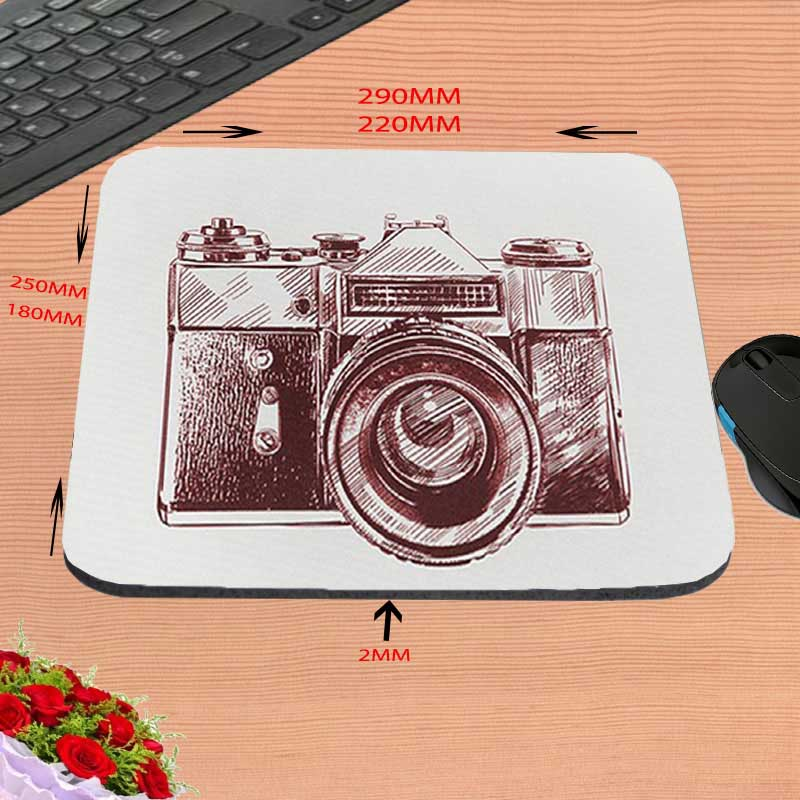 Camera Art Custom Silicon Anti slip Gaming Mousepad Computer Mouse Pad Mat For Optical Mice Trackball Mouse As A Gift in Mouse Pads from Computer Office
