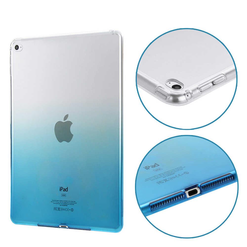 ل أبل ipad 2 3 4 حالة السيليكون لينة الملونة TPU شفافة غطاء كوكه ل ipad 2 ipad 3 ipad 4 حالة واقية حالة واضحة