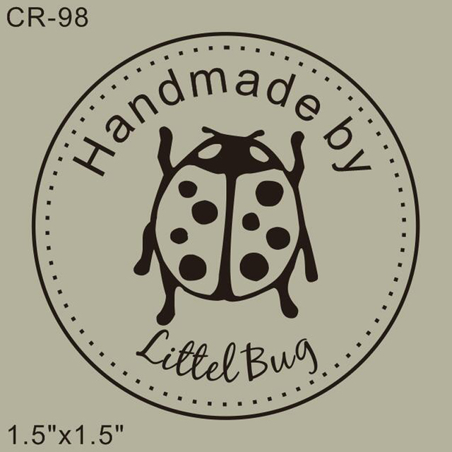 Free Shipping Personalized Custom Rubber Stamp 15x15 Ladybug Handmade By