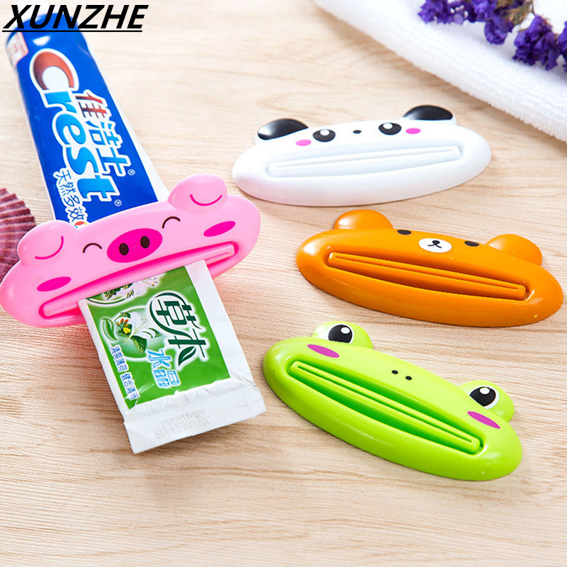 Creative Automatic Toothpaste Dispenser Minions + Toothbrush Holder Set Family Bathroom Set Wall Mount Rack Bath Accessories image