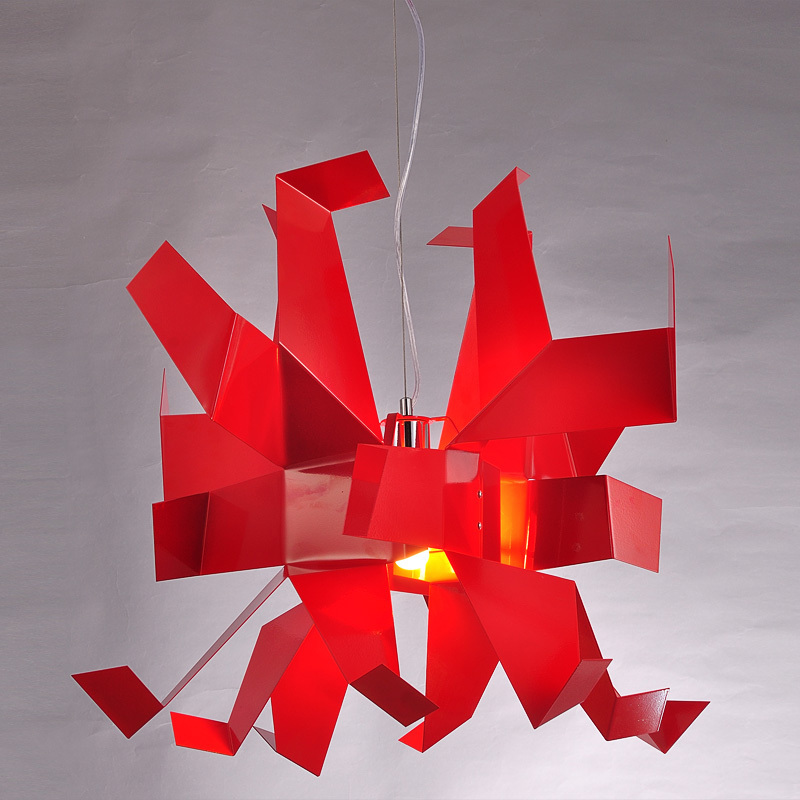 Modern 60cm Pendant Lights Paper Cranes Pendant Lamp Suspension hone Hanging red/white crane lamps FG869 цена и фото