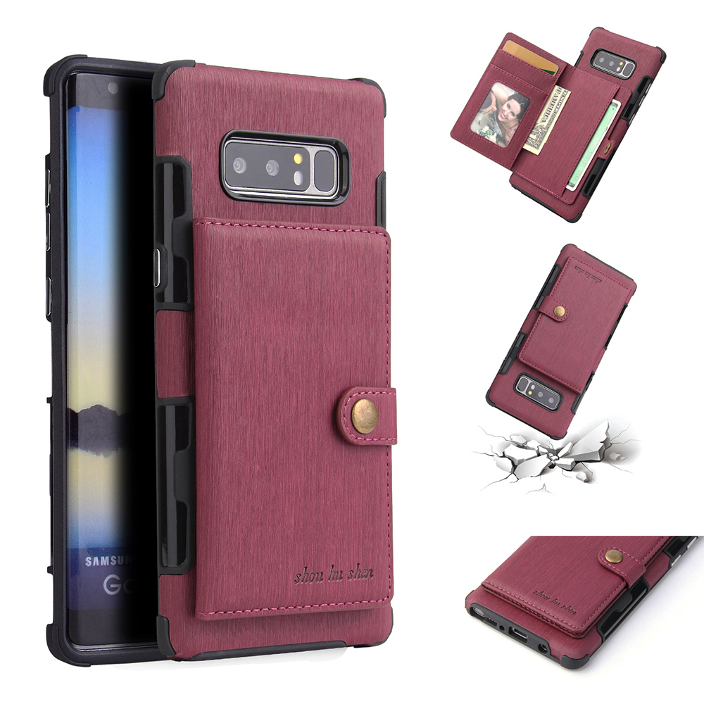 Leather Wallet Case For Samsung Galaxy Note 9 8 S9 S8 Plus Card Slot Cover For