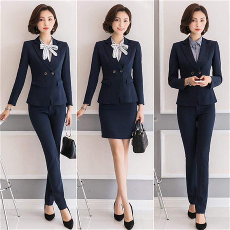 2 piece high quality business suit suit women's new