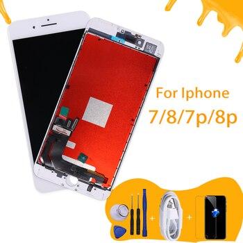 คุณภาพ AAA LCD pentalla สำหรับ iphone 8 จอแสดงผล lcd เปลี่ยน Digitizer ต้นฉบับสำหรับ iphone 7 p