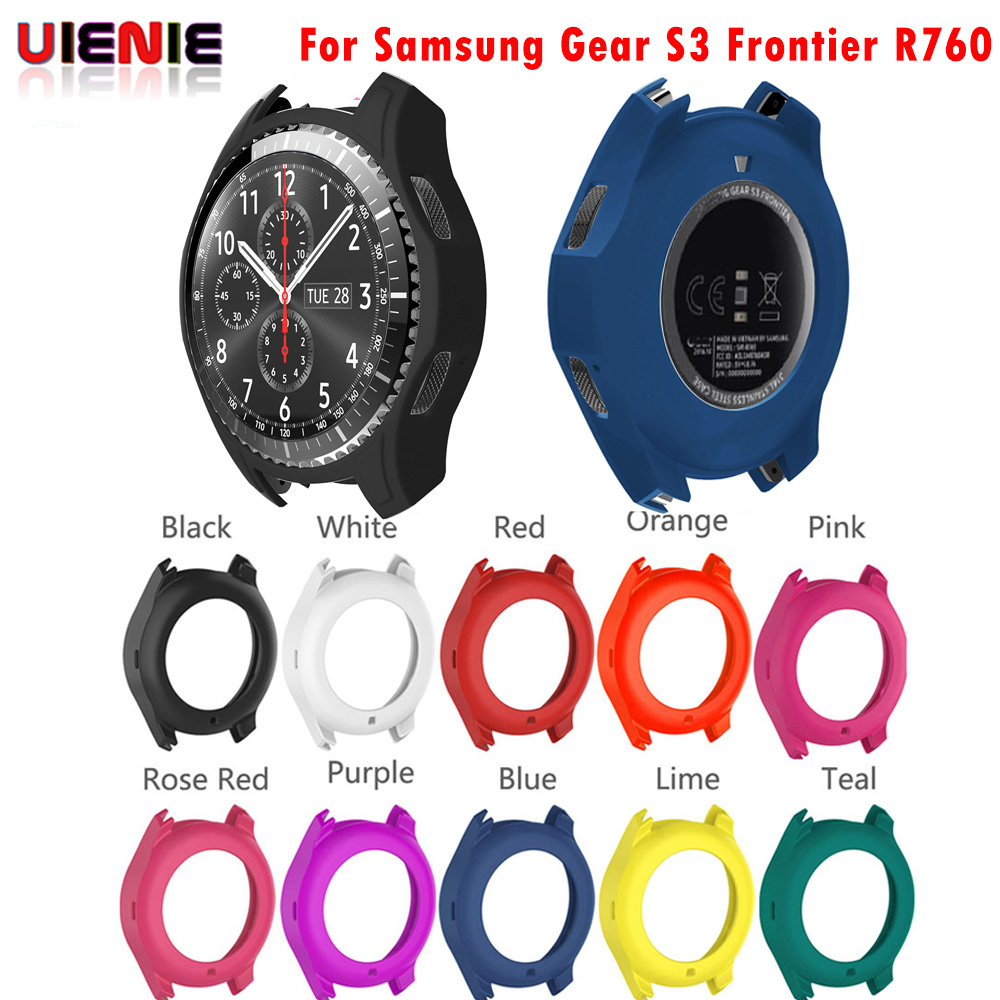 Case For Samsung Galaxy Watch 46mm/Gear S3 Frontier smart watch Silicone Protector Cover case Protective shell Watch Accessory