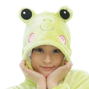Image 3 - Для взрослых зеленый Лягушка животных кигуруми цельный женский и мужской вечерние Аниме косплей костюмы комбинезоны мягкие забавные мультяшные пижамы для девочек и мальчиков