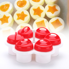 1 Set/6Pcs Portable Egg Poachers Tools Non-stick Silicone Eggs Cup Creative Kitchen Cooker Artifact