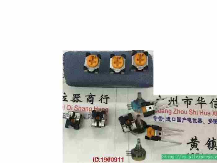 5 Buah/Banyak Jepang Vertikal Disesuaikan Potensiometer Panjang Pin 1 K Kuning Kepala Dapat Disesuaikan