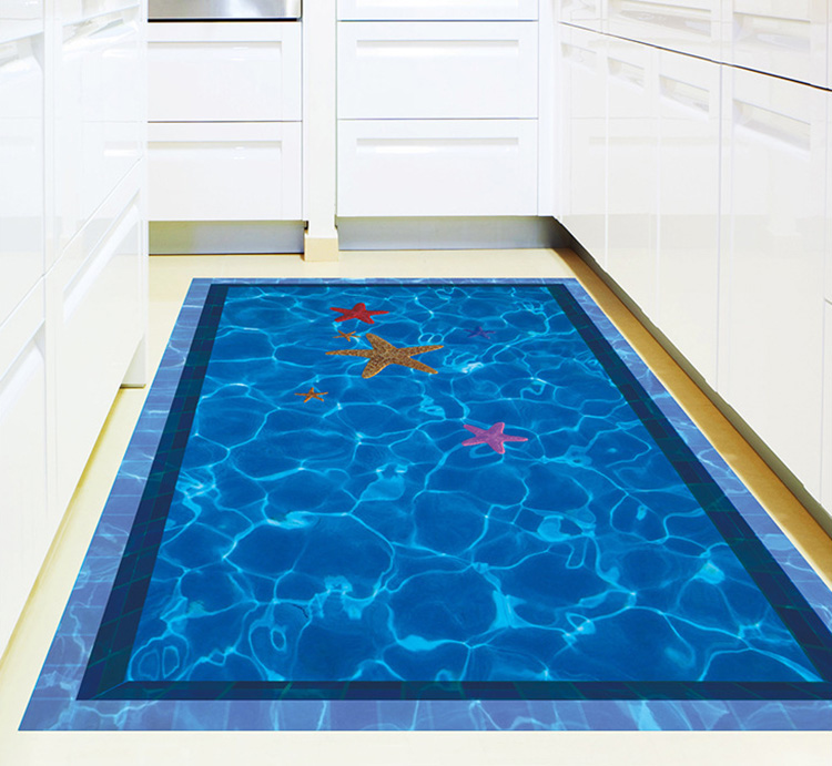 3d Swimming Pool Large Wall Stickers Home Decor Bathroom Floor Art Decal Removable Pvc Wall
