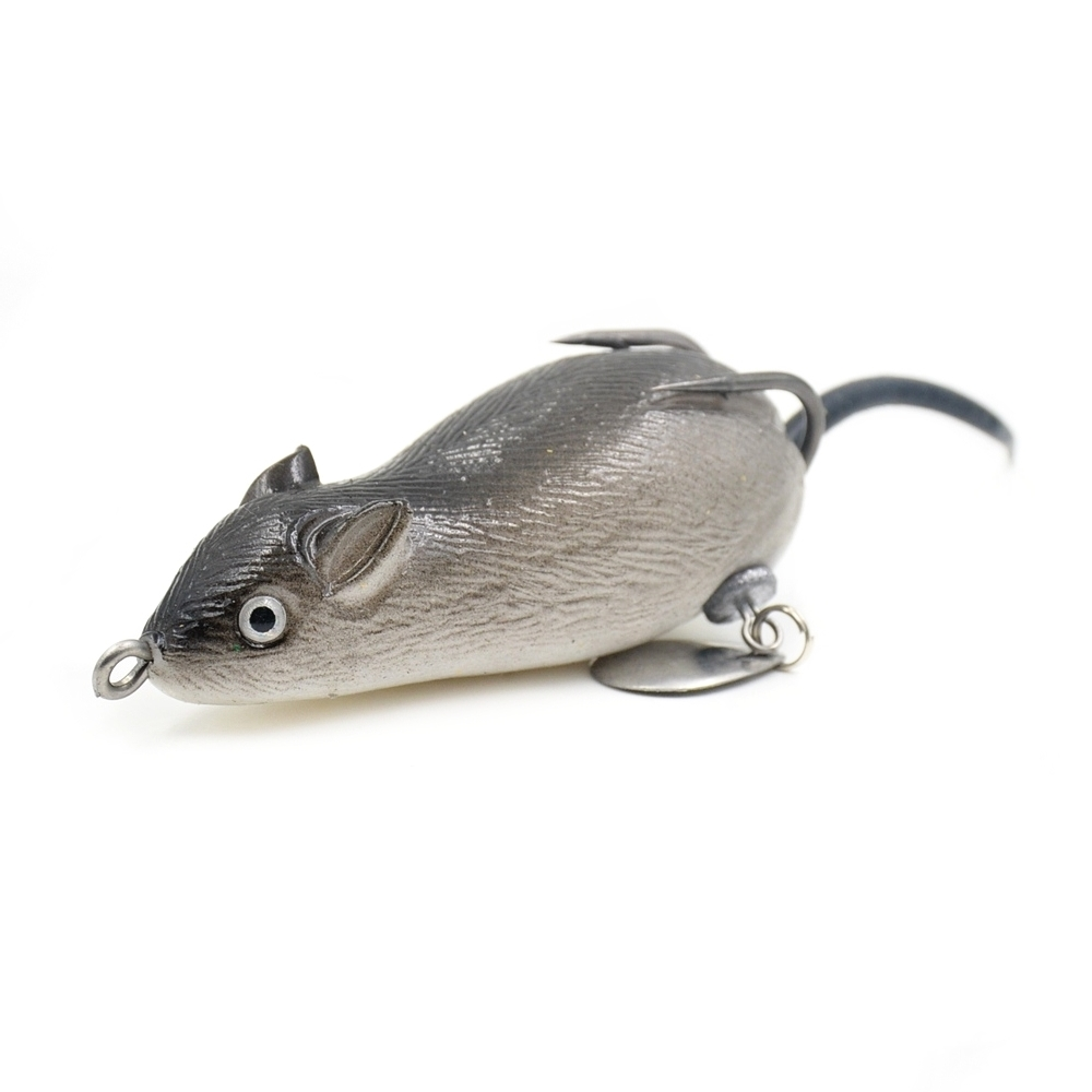 1Pcs/lot Mouse Lure 7cm 19.7g Fishing Lures Treble Hooks Top Water Ray Frog Artificial Crank Strong Artificial Soft Bait