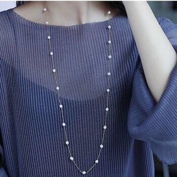 Настоящее 925 пробы Серебряное ожерелье Perfect natural жемчужное ожерелье 120 см длинное ожерелье для Дамская мода ювелирные изделия