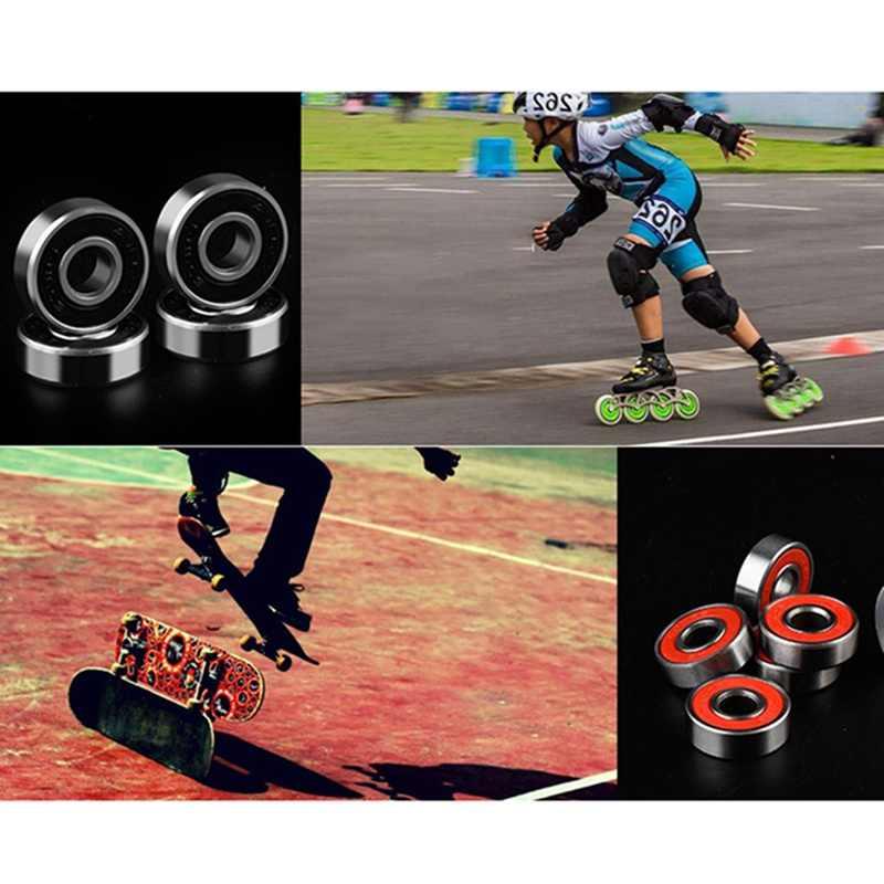 10 Pcs Trượt Băng ABEC-9 Cán Skateboard Longboard Bánh Xe Skate Vòng Bi Con Lăn Đặt Cho Skate Giày Scooter