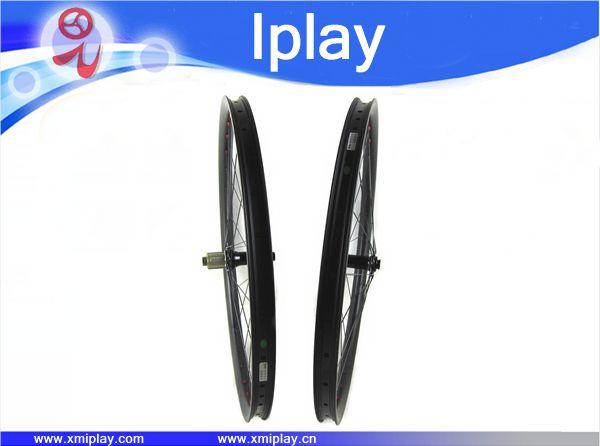 IPLAY 29er carbon mtb wheels Hooklesss&Tubeless 30mm carbon wheelset 29er carbon mountain wheels with Novatec 791/792 disc hubs
