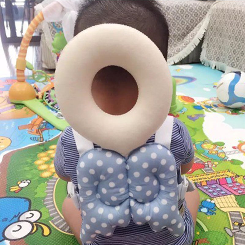 Baby Head Protect Pad Mat Cute Small Bees Baby Learn To Sit Prevent Head Injuries Pillow Baby Bees Pads