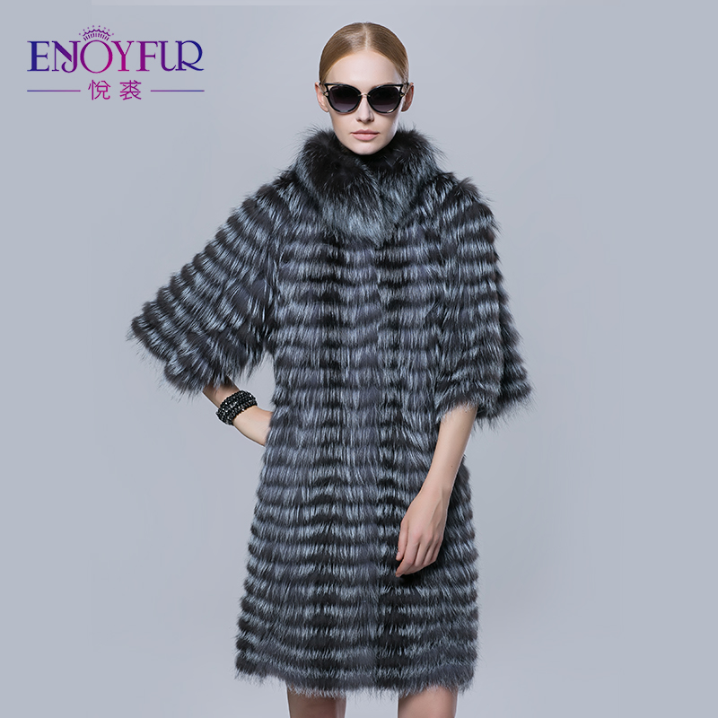 Fur Coat Silver Fox New Enjoyfur Silver Winter qg7t0w0