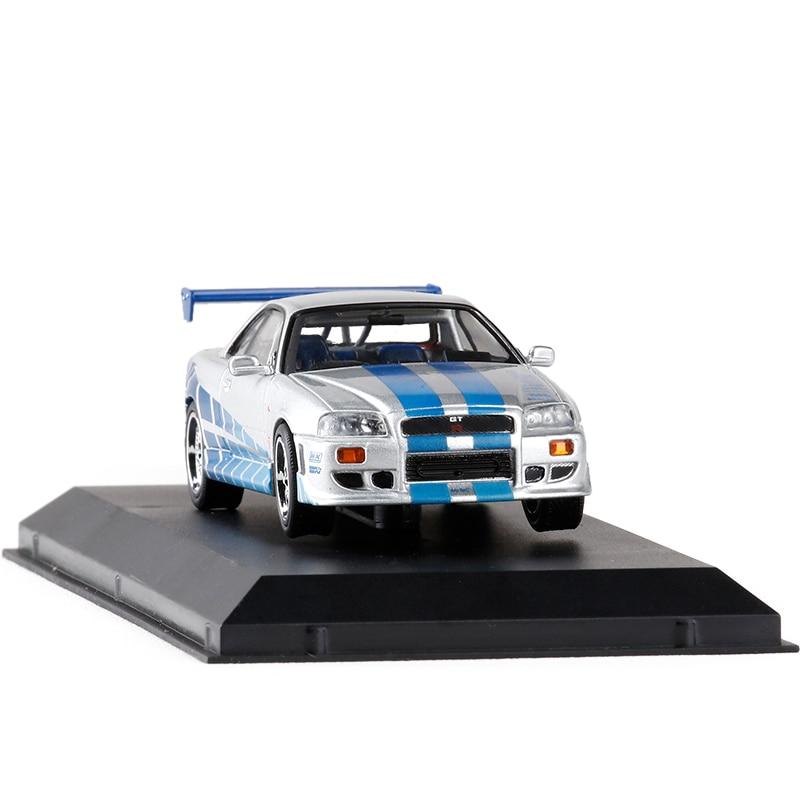 1/43 1999 Nissan Skyline GT R R34 Do Brian Esporte Fundido Em Miniatura  Auto Veículo Modelo De Carro De Brinquedo Para O Menino Frete Grátis Em  Veículos ...