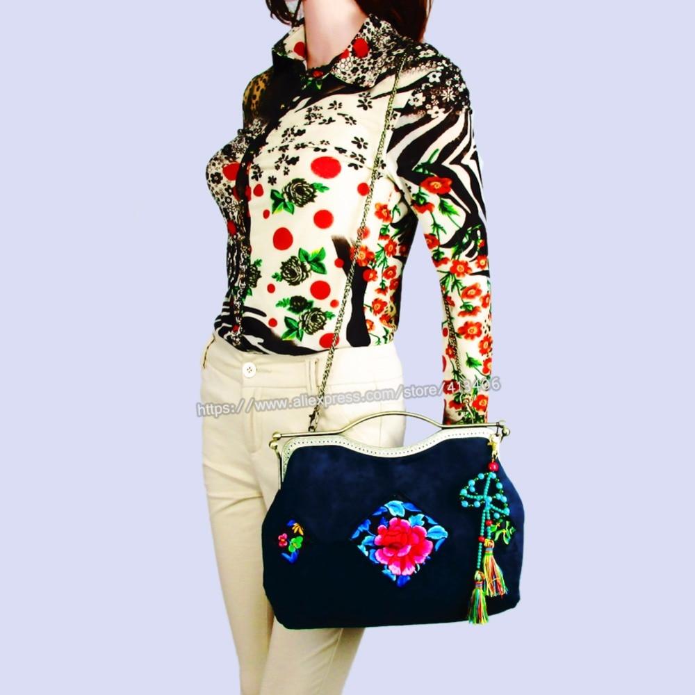 все цены на Handmade Tribal Vintage Hmong Ethnic Boho hippie ethnic tote bag handbags Velvet clutch bag SYS-1022