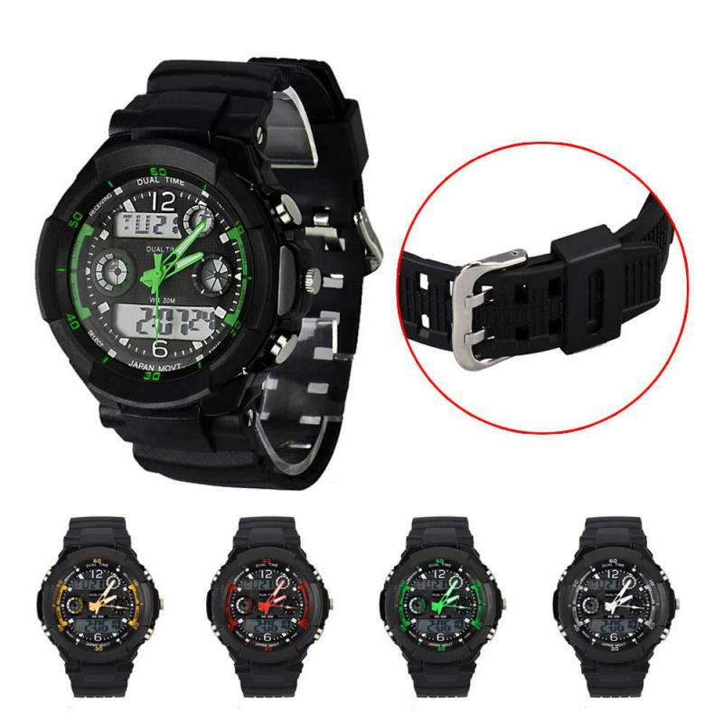 Digital LED Alarm Dual Display Waterproof Rubber Quartz Watch Men Smart Watch Clock Top Luxury Brand Outdoor Sport Digital Watch