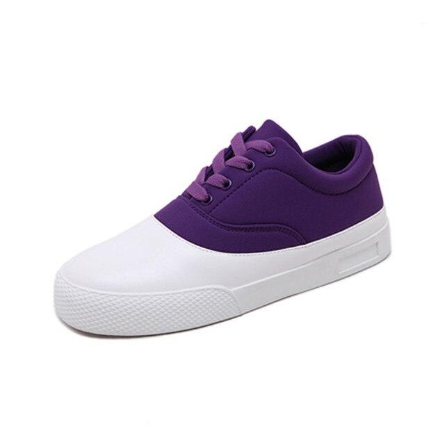 2017 Encaje Moda Mujer Zapatos de Lona Zapatos Casuales Color Mezclado Patchwork Confortables Pisos Nuevos Zapatos Del Mollete