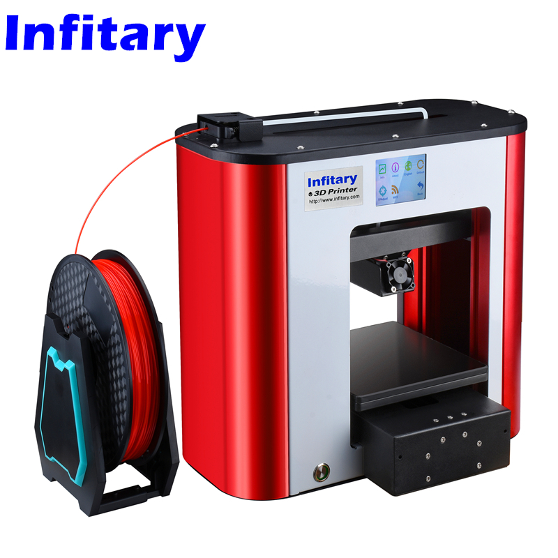 Infitary 2017 Newest 3d Printer Full Metal Assembled 3d Printer High Precision Aluminum alloy Printing bed Touch screen printer girls dress 2018 new style flower kids clothes for girls off the shoulder fashion children princess dress 2 3 4 5 6 7 8 9 year