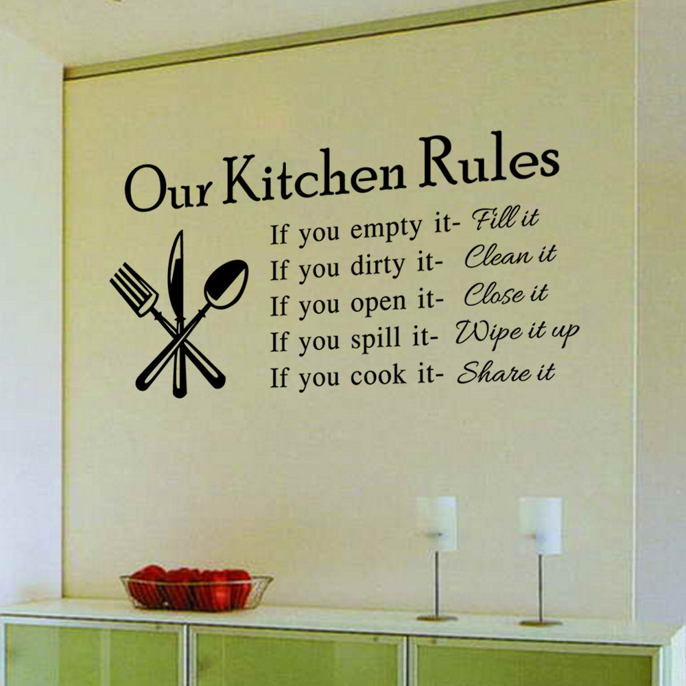 Plane Modern Kitchen Wall Tile Stickers Quarto English Rules Stencils For Walls Home Decor Removable Decal On Aliexpress Alibaba Group