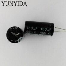 Condensador electrolítico de aluminio, 3 uds., 450V, 150UF, 180UF