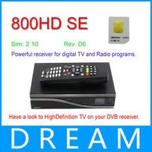 Reproductor multimedia de lastest Rev D6 Versión 800se hd con 2.10 tarjeta de receptor de Satélite | Sunray 800se hd